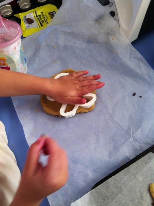 Little Miss practising her cutting skills