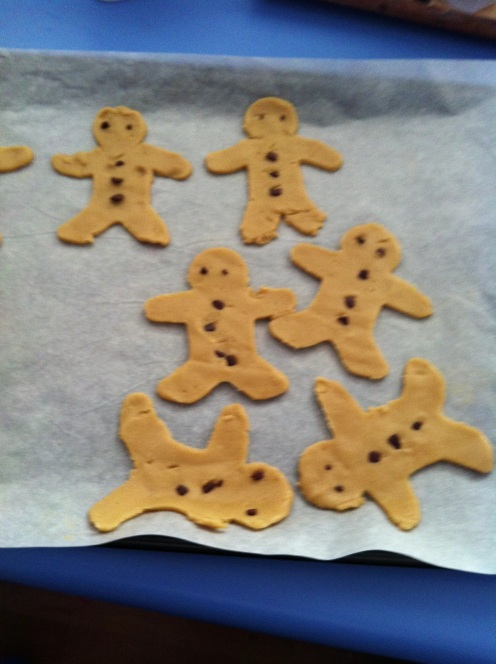 2yr old biscuit making, missing limbs, wonky buttons and a whole pile of pride