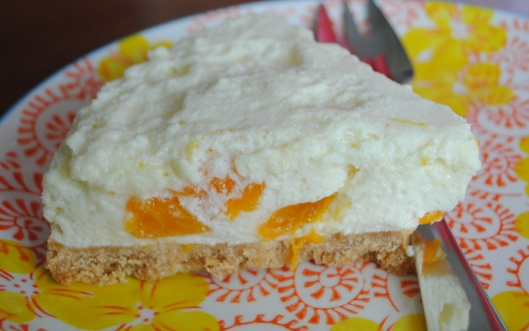 No Bake Lemon Mandarin Cheesecake