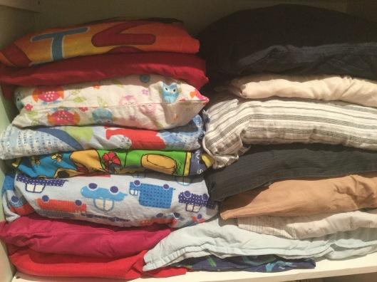 !Organising the linen press